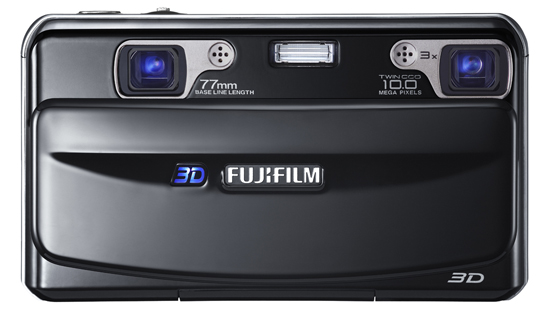 Fujifilm FinePix Real 3D W1, вид спереди