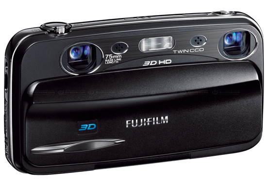 Fujifilm FinePix Real 3D W3, вид спереди