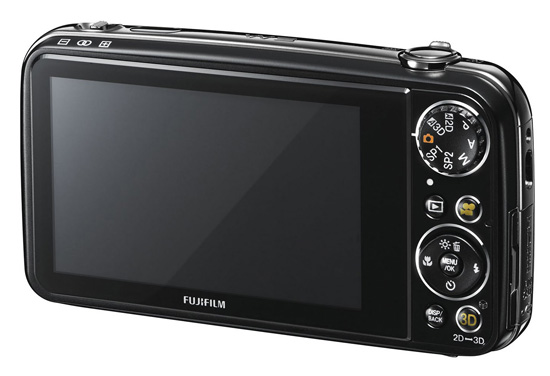Fujifilm FinePix Real 3D W3, вид сзади
