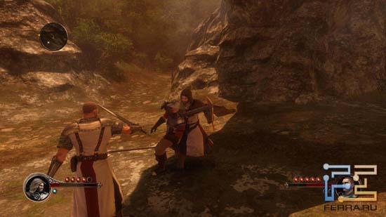 Один из примеров удачного взаимодействия героев в кооперативе The First Templar