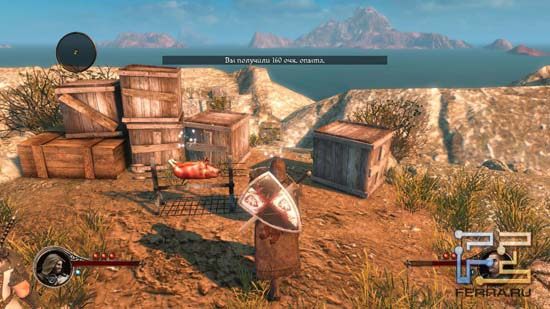 Восполнять жизненные силы в The First Templar нам предлагают с помощью жареного мяса и кустиков растений