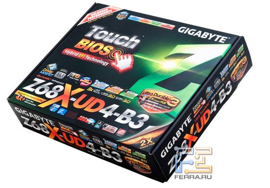 Упаковка материнской платы Gigabyte GA-Z68X-UD4-B3