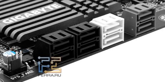 Serial ATA разъемы материнской платы Gigabyte GA-Z68X-UD4-B3