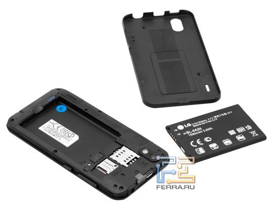 Батарейный отсек LG Optimus Black