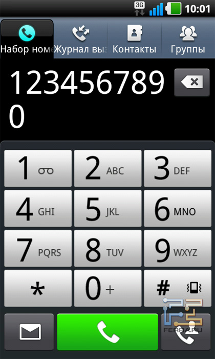 Приложение телефона на LG Optimus Black