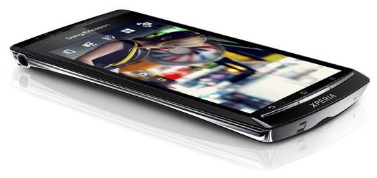 Sony Ericsson Xperia Arc на официальном рендере