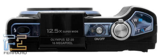Верхняя панель Olympus SZ-20