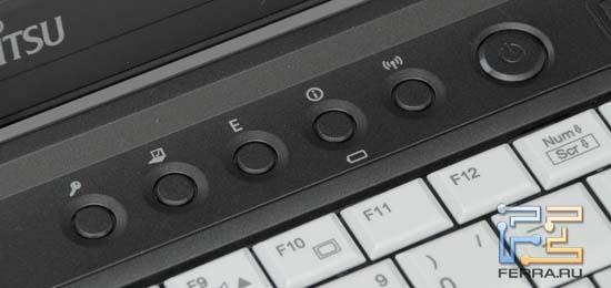 Дополнительные кнопки Fujitsu LIFEBOOK S761