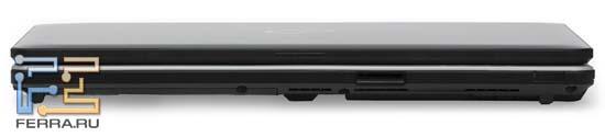 Передний торец Fujitsu LIFEBOOK S761: карт-ридер