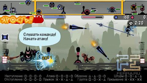 В Patapon 3 по врагу можно в прямом смысле отбомбиться...