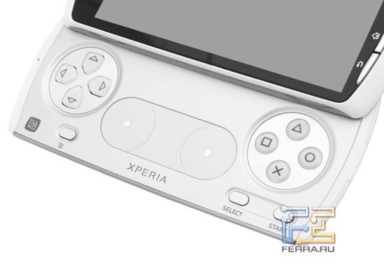 Игровые органы управления на нижней половине корпуса Sony Ericsson Xperia Play