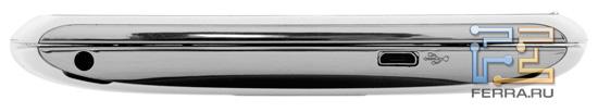 Левая боковая грань корпуса Sony Ericsson Xperia Play