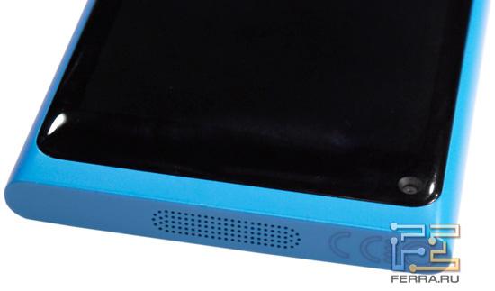 Системный динамик на нижнем торце корпуса Nokia N9