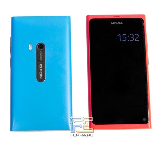 Nokia N9 в голубом и розовом исполнении