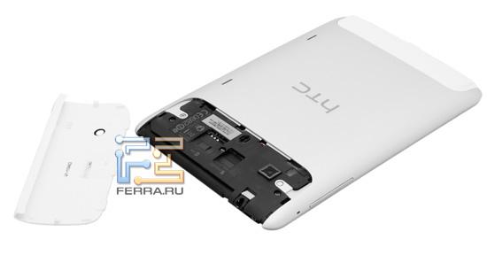 HTC Flyer без задней крышки