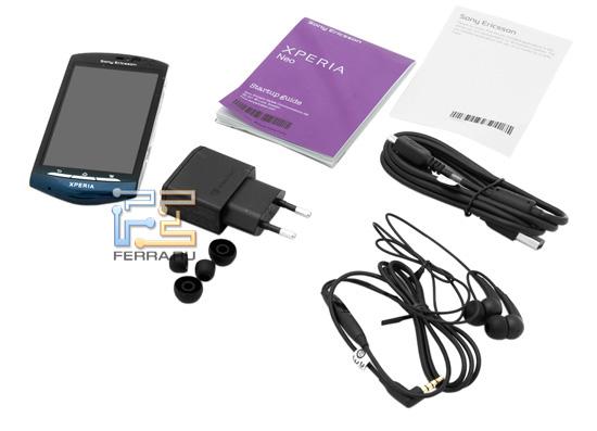 Комплект поставки Sony Ericsson Xperia Neo