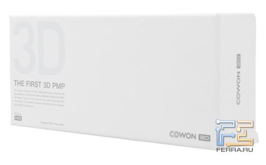 Сразу понятно, в чем заключается главная особенность Cowon 3D