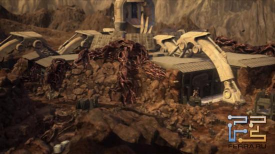 Red Faction: Armageddon - Жители Красной планеты в панике - все вокруг буквально ожило и зашевелилось