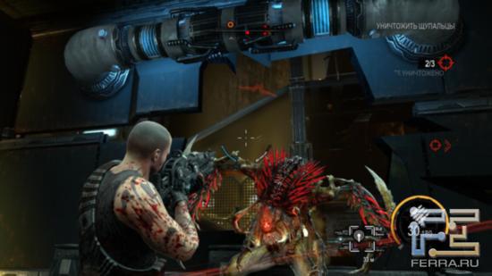 Татуировки героя, увы, не наводят страх на пришельцев в Red Faction: Armageddon