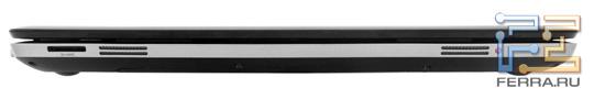 Передний торец HP Pavilion dv6-6051er: карт-ридер, два динамика