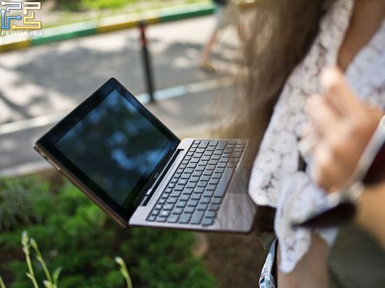 Фактически это сильный планшет, который ещё может выполнять функции смартбука