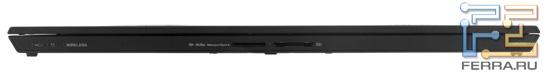 Передний торец Sony VAIO Z: карт-ридеры SD и Memory Stick