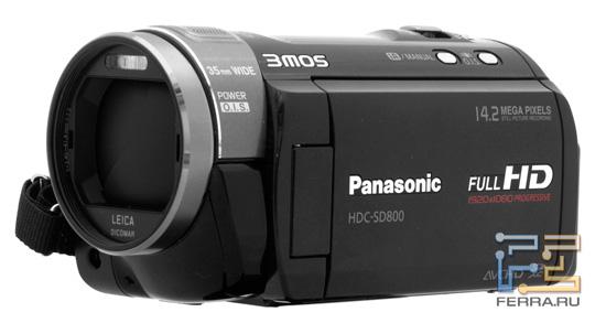 Общий вид видеокамеры Panasonic HDC-SD800