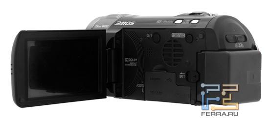 Открытый экран Panasonic HDC-SD800
