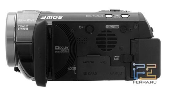 Органы управления на внутренней панели камеры Panasonic HDC-SD800