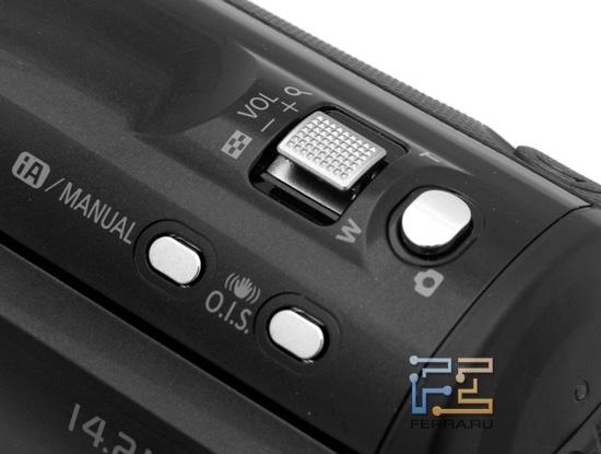 Органы управления в верхней части корпуса Panasonic HDC-SD800
