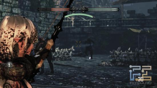 Количеству крови на модели одного из героев Hunted: The Demon