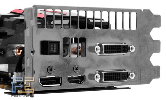 Задняя панель ASUS Matrix GTX 580