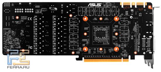 Печатная плата ASUS Matrix GTX 580, вид сзади