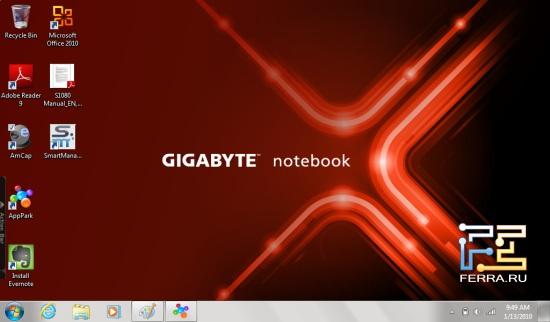 Рабочий стол планшета Gigabyte S1080
