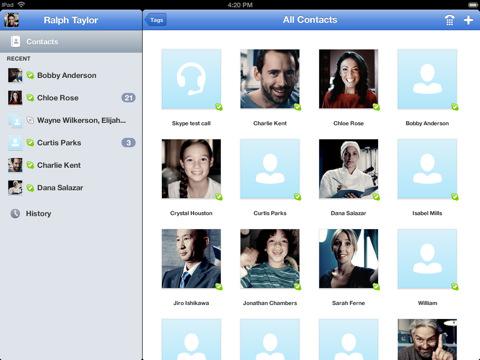 Skype ��� iPad