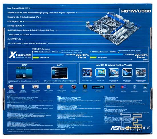 Упаковка материнской платы ASRock H61M-U3S3