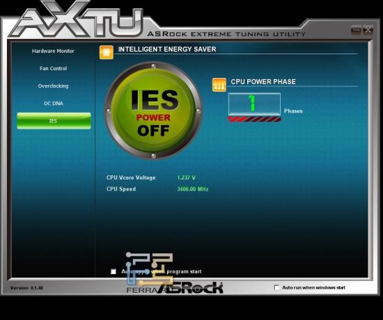 ASRock Extreme Tuning Utillity на материнской плате ASRock H61M-U3S3