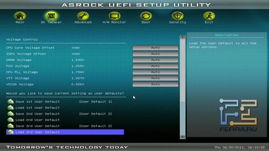 Настройка рабочих напряжений в BIOS ASRock H61M-U3S3