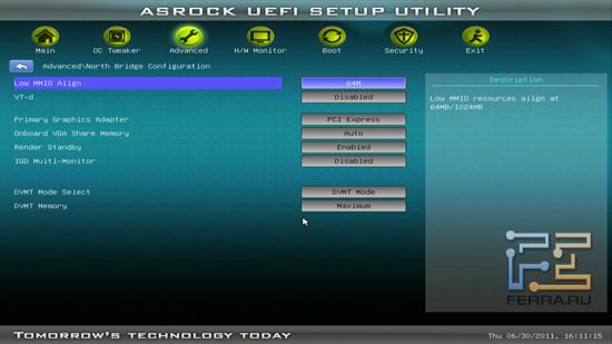 Настройки NB BIOS ASRock H61M-U3S3