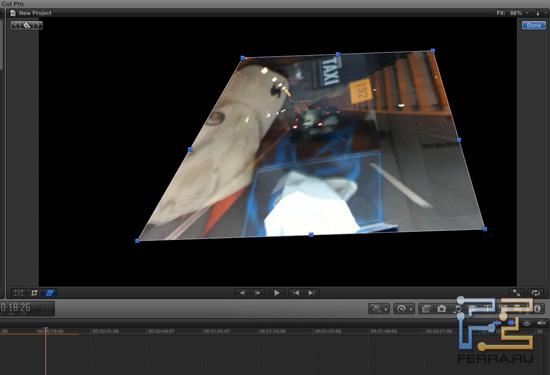 Геометрические преобразования видео в Final Cut Pro X
