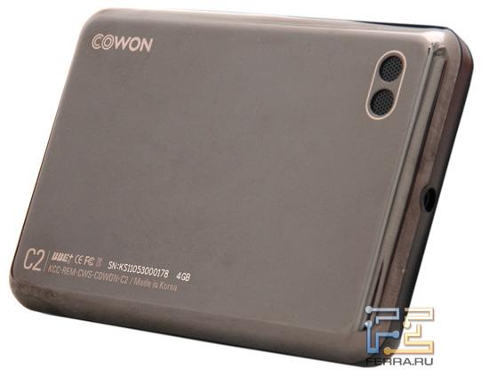 Задняя панель Cowon C2