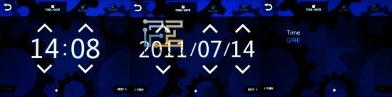 Настройки часов Cowon C2