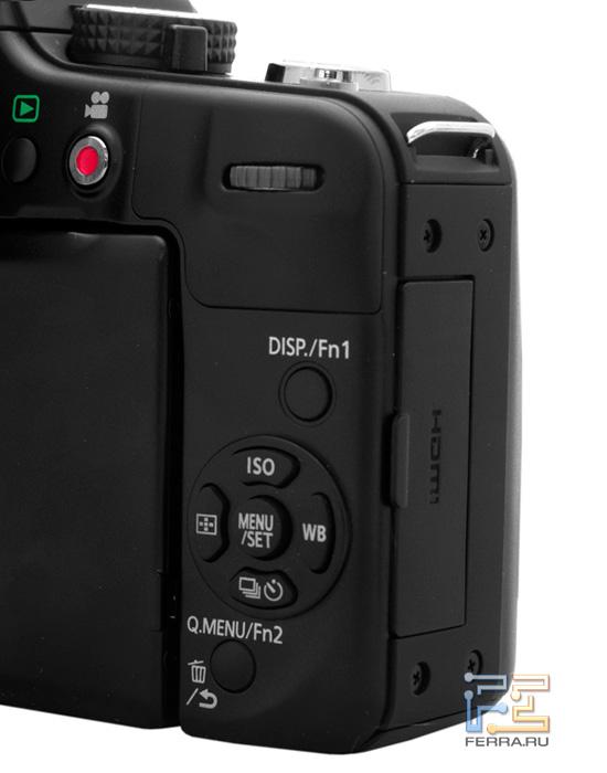 Кнопки управления Lumix G3