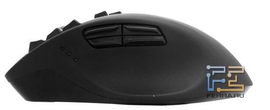Logitech Gaming Mouse G700. Боковая панель