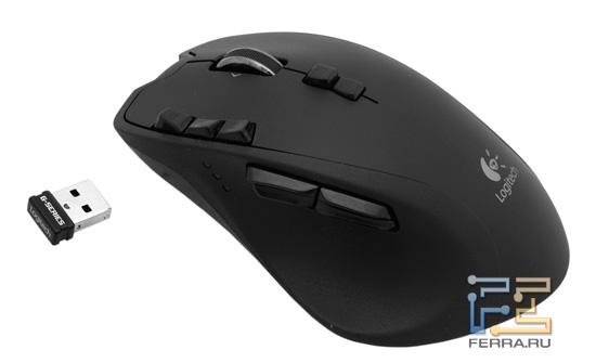 Эргономичная форма Logitech Gaming Mouse G700 и миниатюрность приемника Unifying