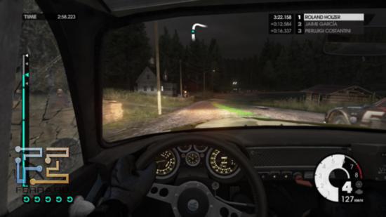 Раллийные этапы в Финляндии в DiRT 3 наиболее опасны с точки зрения обгонов - дороги крайне узкие