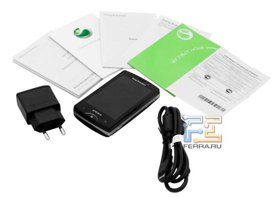 Комплектация Sony Ericsson Xperia mini pro