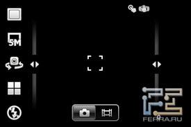 Интерфейс встроенной камеры SE Xperia mini pro