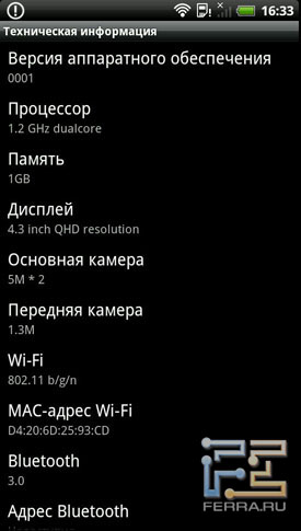 HTC Sense на примере HTC Evo 3D