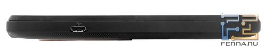 Левая боковая грань корпуса HTC Evo 3D